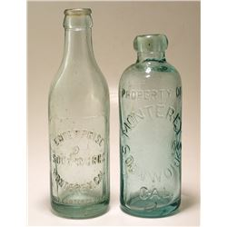 Two Monterey Soda Bottles (Monterey, California)