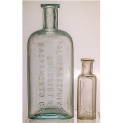 Two Sacramento Drug Store Bottles: Palmer & Sepulveda and Boston Drug Store (Sacramento, California)