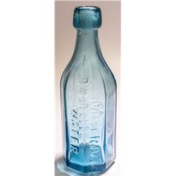 Blue J.N. Gerdes Mineral Water Soda Bottle (San Francisco, California)
