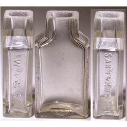 "W. F Co. (Wells Fargo?) 3"" Bottle (San Francisco, California)"