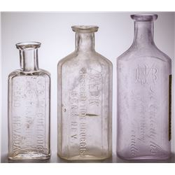 Three Reno Drug Store Bottles: McCullough and Weck (Reno, Nevada)