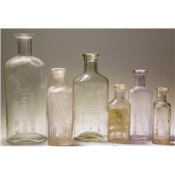 Six Reno, Nevada Drug Bottles: Cann Drug Co., Red Cross, Hodgkinson, Hilps, N.E. Wilson, and More