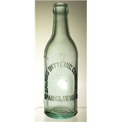 Sparks Bottling Co. Embossed Soda (Sparks, Nevada)