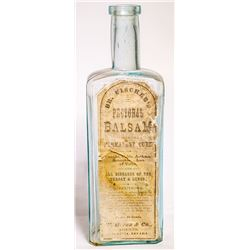 c.1875 W. Biter & Co. Paper Label Medicine Bottle (Virginia City, Nevada)
