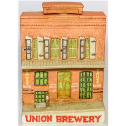 Union Brewery Ceramic Flask (Virginia City, Nevada)