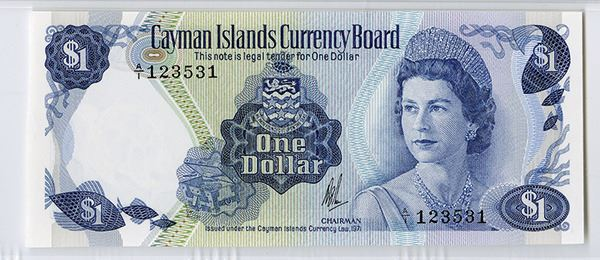 Image 2 Cayman Islands Currency Board 1971 Nd 1972 Issued Banknote