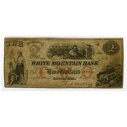 White Mountain Bank, 1860 Issued  Santa Claus  Obsolete Banknote.