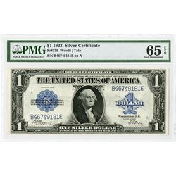 U.S. Silver Certificate, $1, Series of 1923, Fr#239 Issued Banknote.