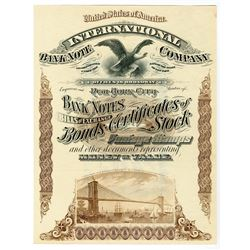 International Bank Note Company Advertising Broadside and Possibly used as a Paper Sample, ND, ca.18