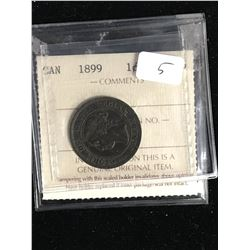1899 CANADA LARGE CENT.ICCS EF-45..