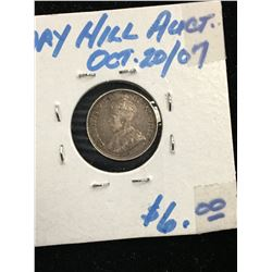 1911 CANADA 5 CENTS! F-15