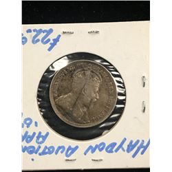 1907 CANADA 25 CENTS!F-15