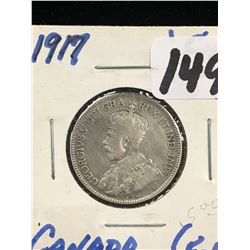 1917 CANADA 25 CENTS!F-12