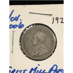 1928 CANADA 25 CENTS!VG-10