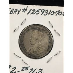 1931 CANADA 25 CENTS! VG-10