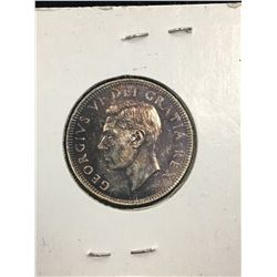 1949 CANADA 25 CENTS! MS-63 TONED