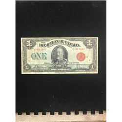 1923 DOMINION OF CANAD $1.00 NOTE! RED SEAL!MACCAVOURS/SAUNDERS!