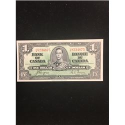 1937 BANK OF CANADA $1.00 NOTE! COYNE/TOWERS! UNC NOTE
