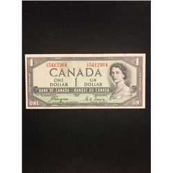 1954 DEVILS FACE $1.00 NOTE!