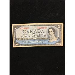 1954 $5.00 DEVILS FACE NOTE!