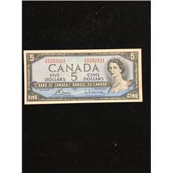 1954 BANK OF CANADA $5.00 NOTE!