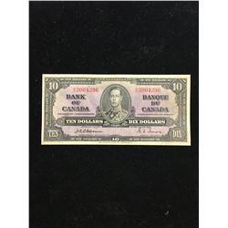1937 BANK OF CANADA $10 NOTE! OSBOURNE/TOWERS!