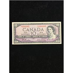 1954 BANK OF CANADA $10.00 NOTE!MODIFIED PORTRAIT! CHOICE UNC!