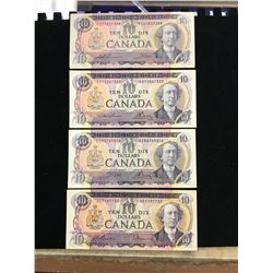 1971 BANK OF CANADA $10.00 LOT OF 4  NOTES!!