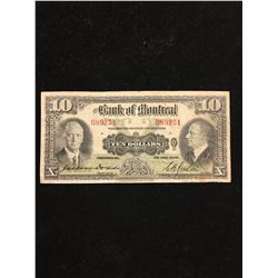 1935 BANK OF MONTREAL $10.00 NOTE!
