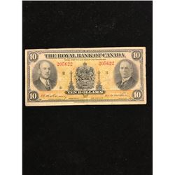 1935 THE ROYAL BANK OF CANADA $10.00 NOTE!