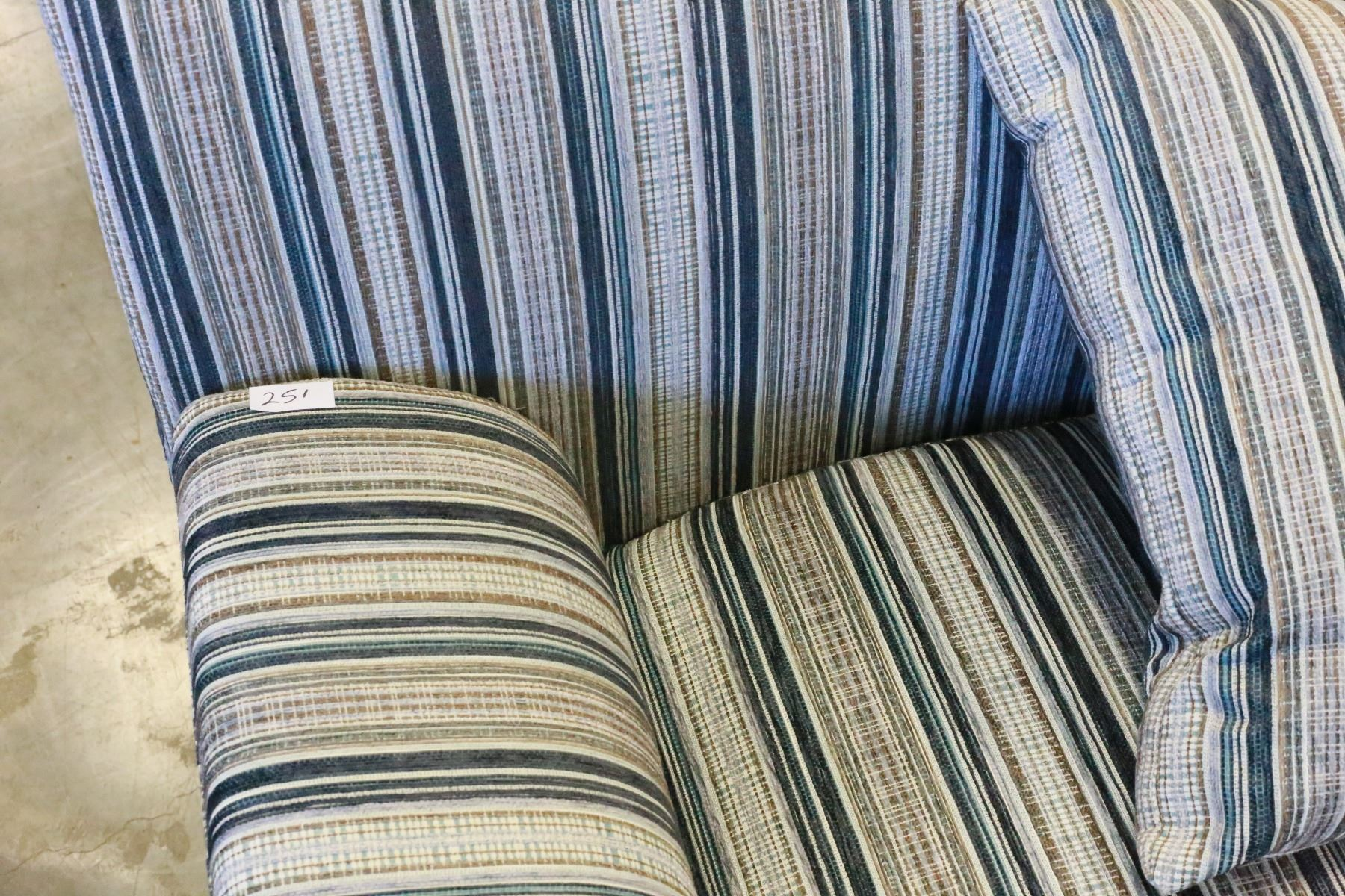 Decorative Pillows Retail : NEW MODERN STRIPED LIVING ROOM CHAIR WITH THROW PILLOW RETAIL $699