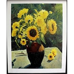 "Fine Art Print ""Sunflowers"" by Edward Noott"