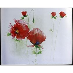 "Fine Art Print ""Red Poppies I"" by Andrea Fontana"
