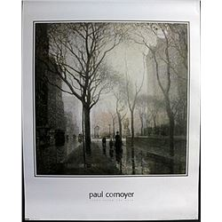 "Fine Art Print ""Plaza after the rain"" by Paul Cornyer"