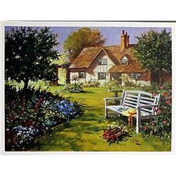 "Fine Art Print ""Garden Scene"" by Richard Telford"