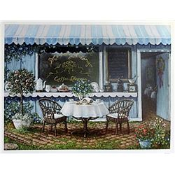 "Fine Art Print ""Morning Glory Coffee Shop"" by Janet Kruskamp"