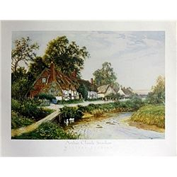 "Fine Art Print ""Welford Evening"" by Arthur C. Strachan"