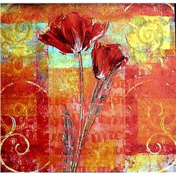 "Fine Art Print ""Red Tulips II"" by Yvonne Dulac"