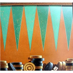 "Fine Art Print ""Backgammon"" by Bill Romero"
