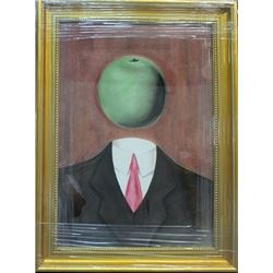Signed Oil on paper Magritte
