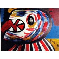Karel Appel Oil on Paper - The Dragon