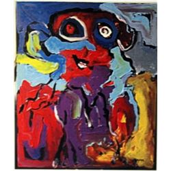 Karel Appel Oil on Canvas - The Boy