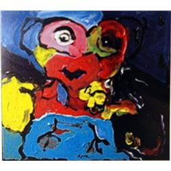 Karel Appel Oil on Canvas - The Boy III
