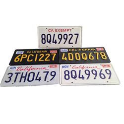 Roman J. Israel Esq. - George (Colin Farrell) License Plates Movie Props