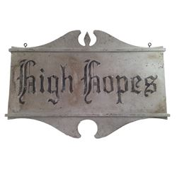 "Amityville: The Awakening Screen Used ""High Hopes"" Sign Movie Props"