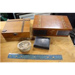 Lot Vintage Wood Boxes and Containers (4)
