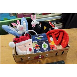 Angry Bird Carrying Cases With Bunny Ears And Santa Case