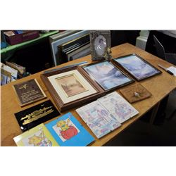 Assorted Picture Frames And Photo Displays, Etc; (12)