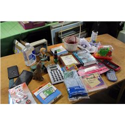 Lot of Misc (Health-O-Meter, Stone Cat, Books, Nail Polish, Mineral Oil, Lint Roller, Etc;)