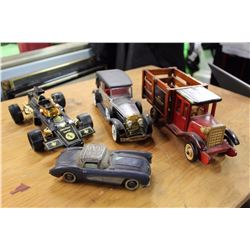 Vintage Car Models (4)(Coopertires,  John Player Special, Etc;)